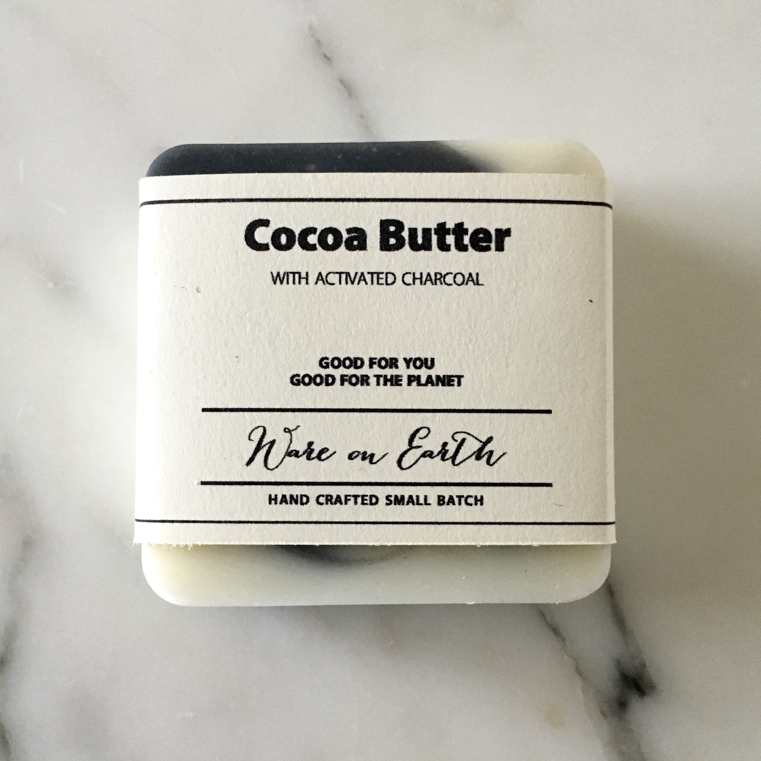 Cocoa Butter with Activated Charcoal