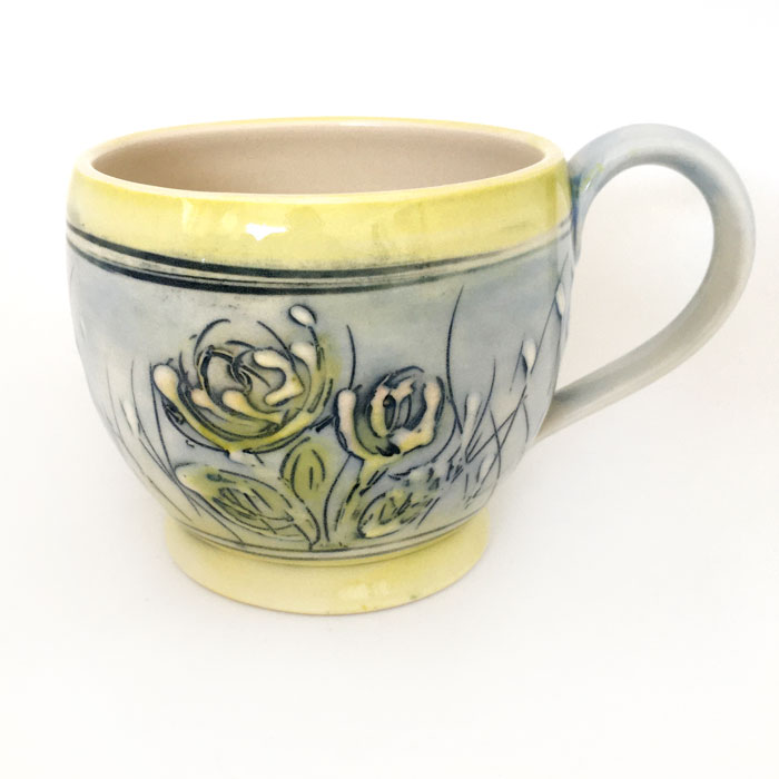 coffee mug, pottery, handmade